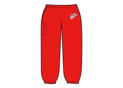 Supreme Nike Cargo Sweatpant Red (SS21)の写真