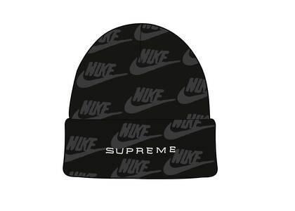 Supreme Nike Jacquard Logos Beanie Black (SS21)の写真