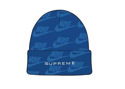 Supreme Nike Jacquard Logos Beanie Blue (SS21)の写真