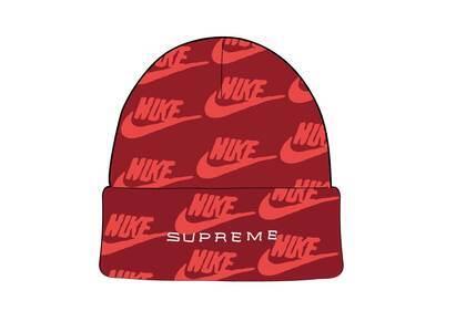 Supreme Nike Jacquard Logos Beanie Red (SS21)の写真