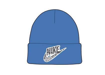 Supreme Nike Snakeskin Beanie Blue (SS21)の写真