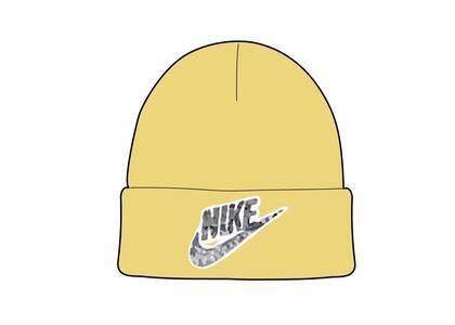 Supreme Nike Snakeskin Beanie Pale Yellow (SS21)の写真