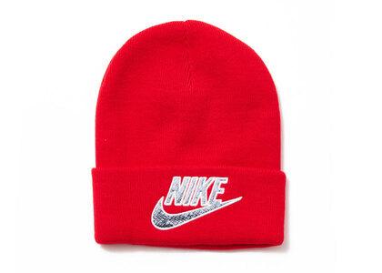 Supreme Nike Snakeskin Beanie Red (SS21)の写真