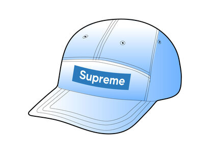 Supreme Spray Canvas Camp Cap Blue (SS21)の写真