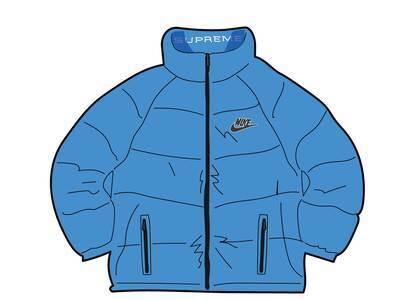 Supreme Nike Reversible Puffy Jacket Blue (SS21)の写真