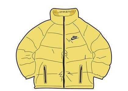 Supreme Nike Reversible Puffy Jacket Pale Yellow (SS21)の写真