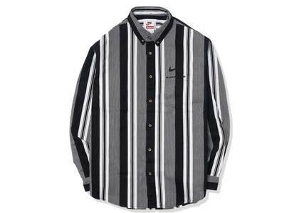 Supreme Nike Cotton Twill Shirt Black Stripe (SS21)の写真