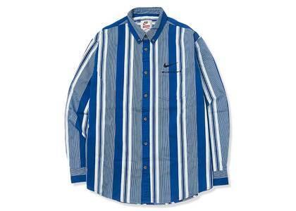 Supreme Nike Cotton Twill Shirt Blue Stripe (SS21)の写真