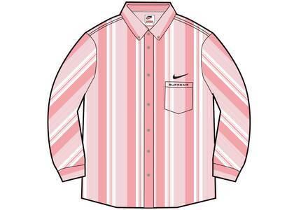 Supreme Nike Cotton Twill Shirt Pink Stripe (SS21)の写真