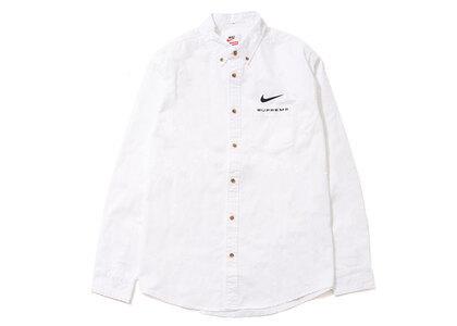 Supreme Nike Cotton Twill Shirt White (SS21)の写真