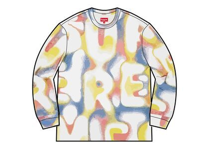 Supreme Half Tone L/S Top White (SS21)の写真