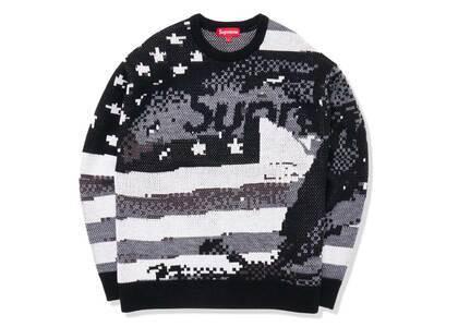 Supreme Digital Flag Sweater Black (SS21)の写真