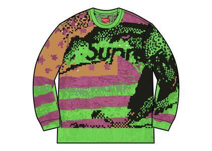 Supreme Digital Flag Sweater Light Green (SS21)の写真