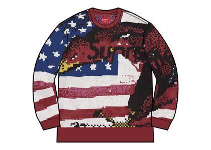 Supreme Digital Flag Sweater Red (SS21)の写真
