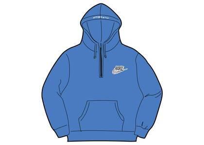 Supreme Nike Half Zip Hooded Sweatshirt Blue (SS21)の写真