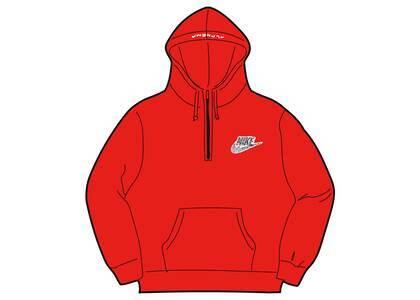 Supreme Nike Half Zip Hooded Sweatshirt Red (SS21)の写真