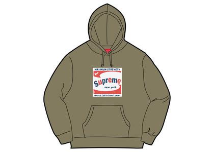 Supreme Shine Hooded Sweatshirt Light Olive (SS21)の写真