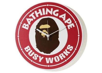 Bape Busy Works Wall Clock Red (SS21)の写真