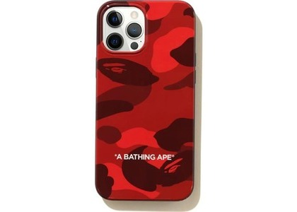 Bape Color Camo iPhone 12 Pro Max Case Red (SS21)の写真