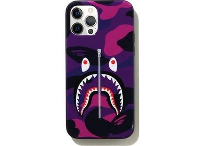 Bape Color Camo Shark iPhone 12/12 Pro Case Purple (SS21)の写真