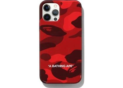 Bape Color Camo iPhone 12/12 Pro Case Red (SS21)の写真