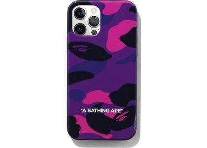 Bape Color Camo iPhone 12/12 Pro Case Purple (SS21)の写真