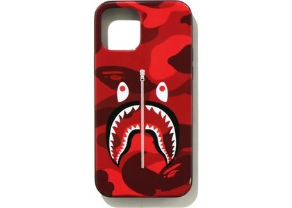 Bape Color Camo Shark iPhone 12/12 Pro Case Red (SS21)の写真