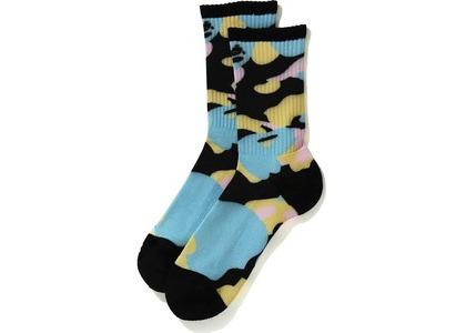 Bape New Multi Camo Socks Black (SS21)の写真