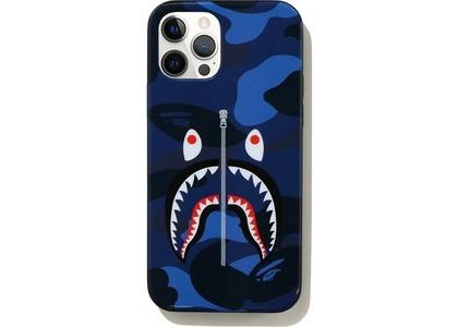Bape Color Camo Shark iPhone 12/12 Pro Case Navy (SS21)の写真