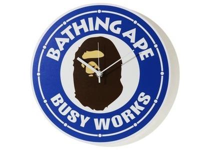 Bape Busy Works Wall Clock Blue (SS21)の写真
