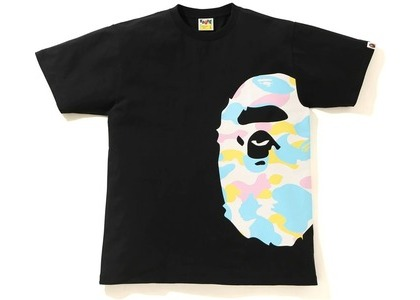 Bape New Multi Camo Side Big Ape Head Tee Black (SS21)の写真