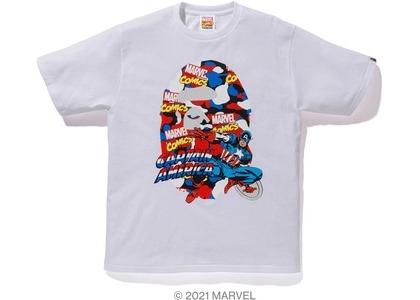 Bape x Marvel Comics Camo Captain America Tee White (SS21)の写真