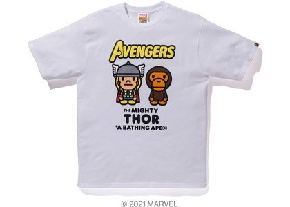Bape x Marvel Comics Milo Mighty Thor Tee White (SS21)の写真