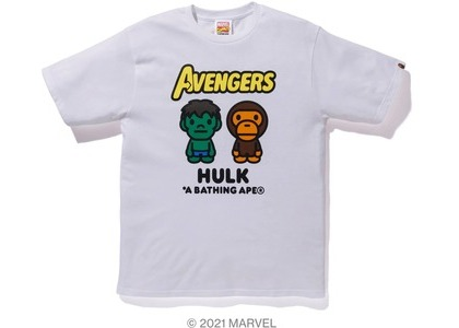 Bape x Marvel Comics Milo The Hulk Tee White (SS21)の写真
