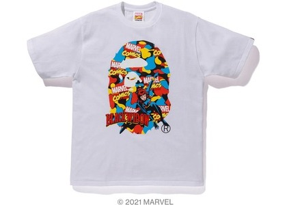 Bape x Marvel Comics Camo Black Widow Tee White (SS21)の写真