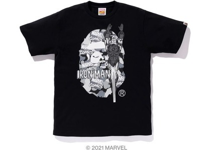 Bape x Marvel Comics Camo Iron Man Tee Black (SS21)の写真