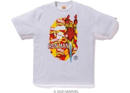 Bape x Marvel Comics Camo Iron Man Tee White (SS21)の写真