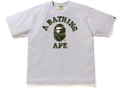 Bape 1st Camo College Relaxe Fit Tee Gray/Green (SS21)の写真