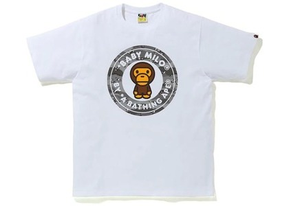Bape Desert Camo Milo Busy Works Tee White/Black (SS21)の写真