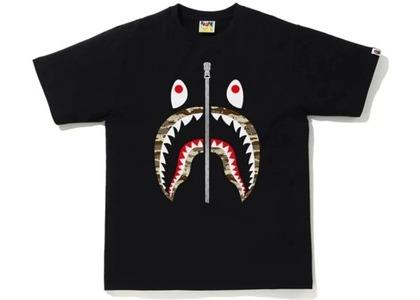 Bape Desert Camo Shark Tee Black/Beige (SS21)の写真