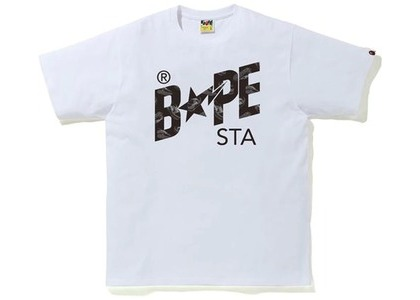 Bape Random STA Logo Tee White/Black (SS21)の写真