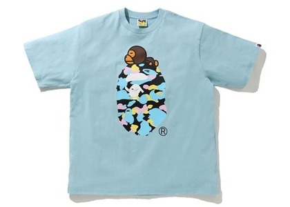 Bape New Multi Camo Milo On Ape Relaxed Tee Sax (SS21)の写真