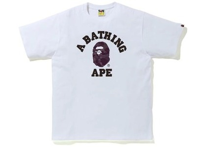 Bape Color Camo College Tee White/Burgundy (SS21)の写真
