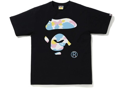 Bape New Multi Camo Ape Face Tee Black (SS21)の写真