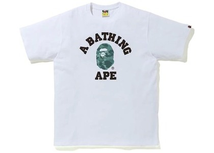 Bape Color Camo College Tee White/Green (SS21)の写真