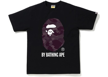 Bape Color Camo by Bathing Ape Tee Black/Burgundy (SS21)の写真
