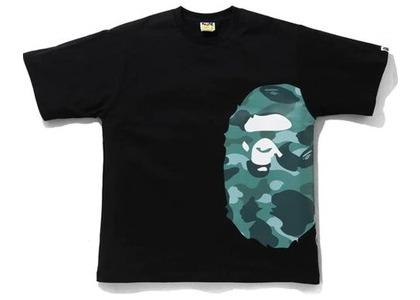 Bape Color Camo Side Big Ape Head Relaxed Tee Black/Green (SS21)の写真