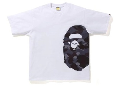 Bape Color Camo Side Big Ape Head Relaxed Tee White/Burgundy (SS21)の写真