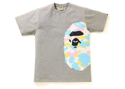 Bape New Multi Camo Side Big Ape Head Tee Gray (SS21)の写真