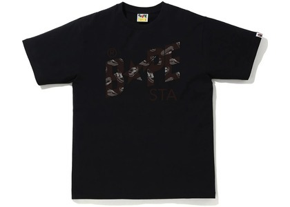 Bape Random STA Logo Tee Black/Black (SS21)の写真